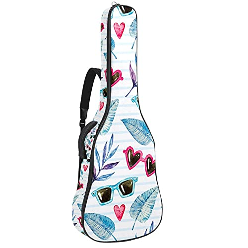 Bolsa de guitarra acústica impermeable para guitarras mochila gruesa suave acolchada clásica funda de gafas de sol y hojas