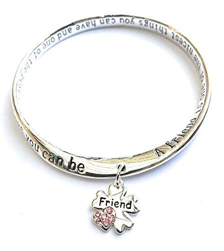 Equilibrium, braccialetto con ciondolo con scritta 'Friend' (in lingua inglese)
