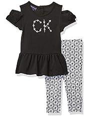 Calvin Klein Baby Girls' 2 Pieces Legging Set