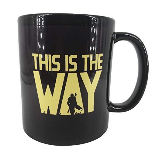 "Star Wars Mug ""THIS IS THE WAY"" Quote Coffee Mug, The Mandalorian TV Series Inspired, 11oz Black Ceramic, Microwave Dish Washer Safe, Won't Fade Away, Fathers Day Gift, Husband, Boyfriend Birthday"