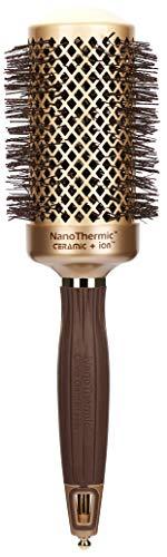 Olivia Garden Haar-Rundbürste NanoThermic 15946, NT-54, 54/ 75 mm mit Keramikkörper und Nylonborsten