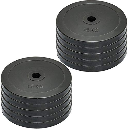 MAXSTRENGTH Rubber Weight Plates Disc Olympic 2' 5cm Hole Home Gym Strength Training Fitness Exercise 20kg & 40kg Kg Set (10kg x 4 = 40)
