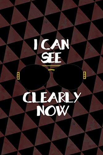 I Can See Clearly Now: Notebook Journal Composition Blank Lined Diary Notepad 120 Pages Paperback Cherry And Black Texture Sunglasses
