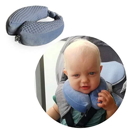 Baby Reisekissen/Nackenstütze/Kopfstütze mit Magneten befestigt, 1-2 JAHRE, Farbe: DENIM BLUE