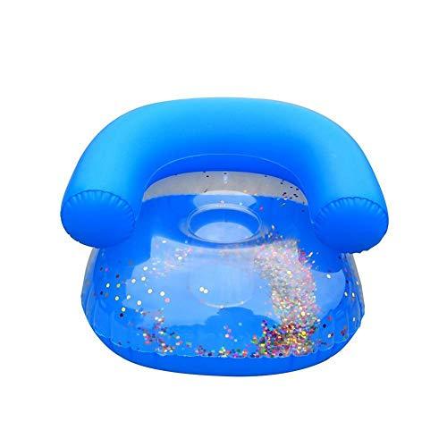 Rubyu - Sofá Hinchable para niños, para bebés, Impermeable, portátil, para Interior o Exterior, Azul