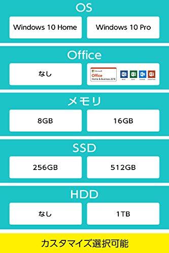 マウスコンピューターmouseデスクトップパソコン(Corei710700/8GB/256GB/1TB/Win10)LM-C7081SHZL
