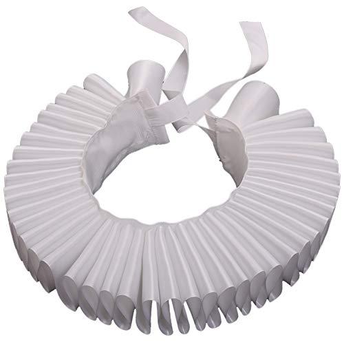 GRACEART Blanco Isabelino Dickens Volante Fruncido Cuello Payaso Collar