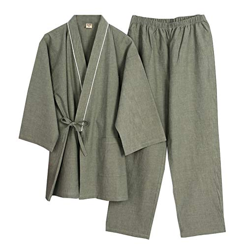 Fancy Pumpkin Manica Lunga Giapponese Stile Femminile Elegante Abiti Cotone Kimono Pigiama Vestito Abito da Sposa Set- # A