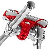 Bone Bike Tie Pro 4 自転車 スマホ ホルダー シリコン製 ステム用 四世代目最新版 4.7〜7.2インチのスマホに対応 iPhone Xperia Galaxy Pixelなどが装着可能 衝撃吸収 脱着簡単 脱落防止 縦型 (レッド)