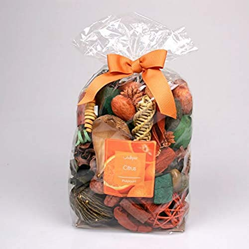 Jodhpuri Potpourri mit natürlichem Zitrusduft, botanischer Duft, für Bad, Wohnzimmer und Büro, inkl. Orange, Zitrone und Grapefruit, 18 oz