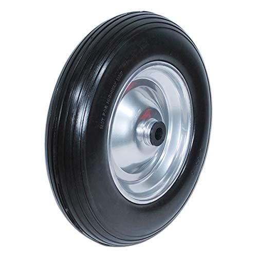 HELO Schubkarrenrad Ersatzrad Vollgummi 3.50-8 Reifen Gummirad pannensicher F
