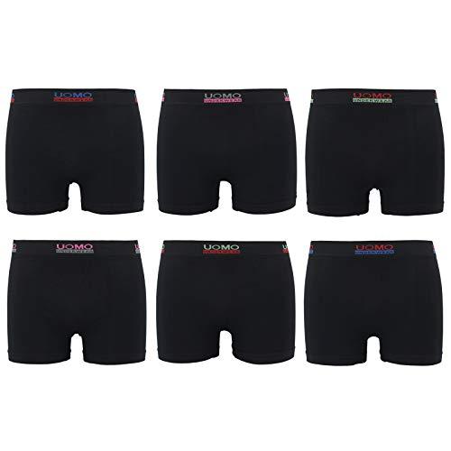 ReKoe 6er Pack Herren Boxershorts Microfaser Uomo Men S-XXL Unterhose Unterwäsche Verschiedene Modelle (Modelle 8), Größe:M/L
