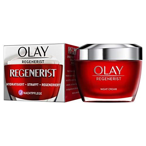OLAY Regenerist Nachtcreme, Spendet Intensiv Feuchtigkeit Und Strafft die Haut Sichtbar, Gesichtspflege Mit Amino-Peptiden Und Vitamin B3, Gesichtscreme Damen, 50ml