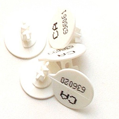 Versapak nummeriert Button Seal (500Stück)