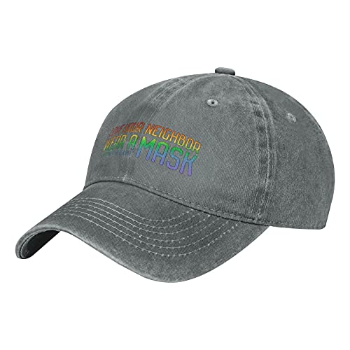 Christians for Science Love Your Neighbor, Indossare una maschera berretto da baseball per uomo donna regolabile Snapback, grigio, Taglia unica