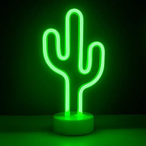 Lámparas decorativas – ZWOOS Decoración Iluminación Lámpara de mesa de luz LED para El Hogar y La Fiesta