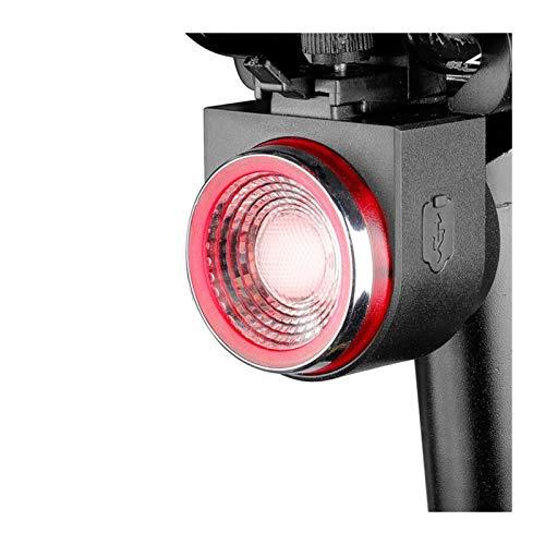 SunnyLou Luz Bici USB Recargable Bicicleta Trasera luz Auto Freno detectado Bicicleta lámpara de Cola de Bicicleta inalámbrica Control Remoto Ciclismo luz Trasero Alarma Campana (Color : Q1)