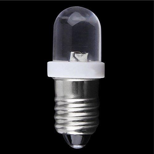 Hem hållbar E10 LED skruv bas indikator glödlampa kall vit 6 V DC hög ljus belysning lampa glödlampa kallt vitt hem tillbehör