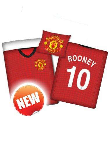 Original Manchester United FC Wende-Bettwäsche 140x200 Rooney Trikot ÖkoTex Standard 100 Baumwolle NEU OVP 2013