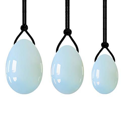 Timagebreze 3 StüCk/Set Opalite Ei Set NatüRliches Massage Drill Ei für die Erholung Nach der Geburt und die Gesundheits FüRsorge für Frauen
