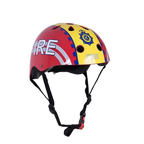 Kiddimoto 2kmh025s Design Sport Helm Fire Fighter / Feuerwehrmann Gr. S, für Kopfumfang 48-53cm (2-5 Jahre)