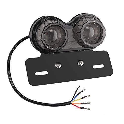 LED Luces Traseras para Motocicleta E13 12V 40LED Luz de Freno para Moto IP65 40W Multifunciones Luz de Parada para Moto ABS Luz de Matrícula Intermitente Señal de Giro para Motocicleta Chopper