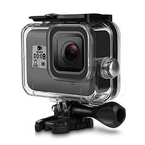 Waterdichte beschermbehuizing voor GoPro Hero 8 zwart, iTrunk 60M onderwaterbehuizing voor duiken met snelsluiting en duimschroef Accessoires voor GoPro Hero 8 actiecamera