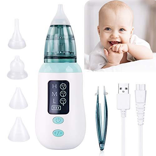 Aspirador Nasal, Aspirador Limpiador de Oidos para Bebés, USB Aspirador Nasal Electrico...