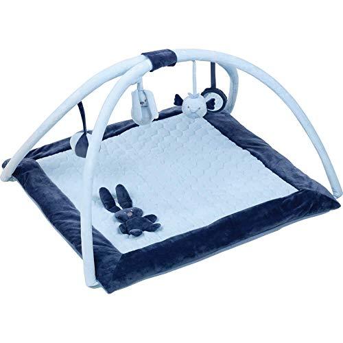 Nattou- Blau Lapin Tapis D'éveil avec Arches Bleu, 879200, uni