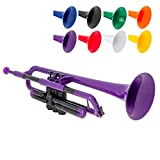 pInstrument pTrumpet Plastic Trumpet - Mouthpieces and Carrying Bag - Lightweight Versatile, Comfortable Ergonomic Grip - Bb Authentic Sound for Student & Beginner - Durable ABS Construction - Purple