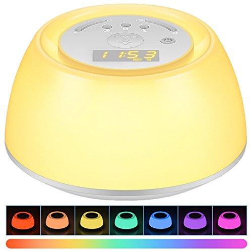 Wake Up Light Alarm Clock, Thpoplete Sleep Aid Bedside Lamp with Sunrise Snooze Function,...