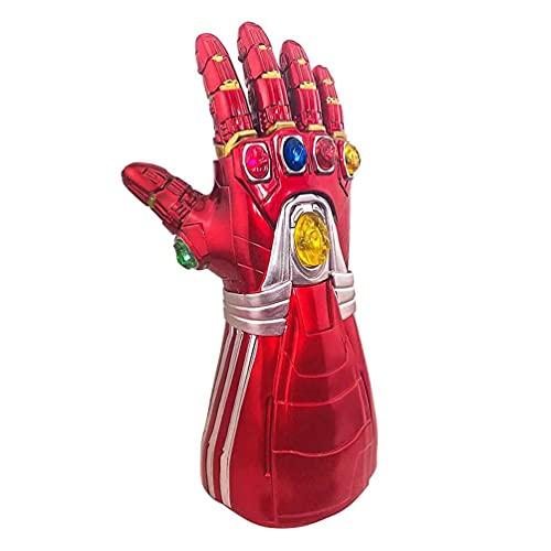 Iron Man Infinity Gauntlet Con Gemme LED Rimovibili Iron Man Light Up Guanti Costume Cosplay Di Halloween Prop Giocattoli Per Bambini E Adulti (Kids)