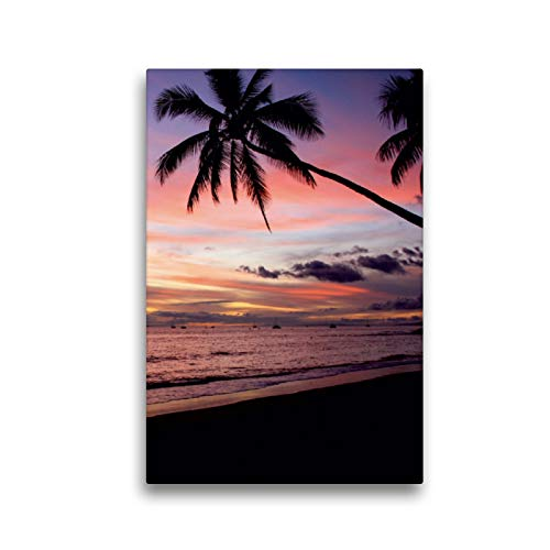 Premium Textil-Leinwand 30 x 45 cm Hoch-Format Sunset - Maui | Wandbild, HD-Bild auf Keilrahmen, Fertigbild auf hochwertigem Vlies, Leinwanddruck von Florian Krauss - www.lavaflow.de