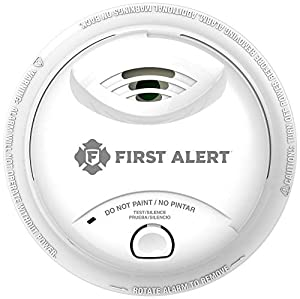 First Alert 0827B Ionization Smoke Alarm with 10-Year Sealed Tamper-Proof Battery