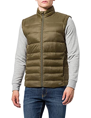 CARE OF by PUMA Chaleco Acolchado Impermeable para Hombre, Verde (Green), S, Label: S