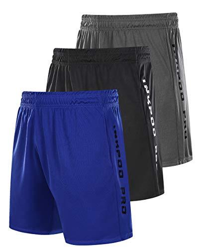 Inkpoo Lot de 3 shorts légers pour homme avec poches...