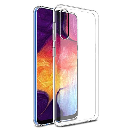 NEW'C Kompatibel mit Samsung Galaxy A50 Hülle, SM-A505F Ultra transparent Silikon Gel TPU Soft,Cover Hülle SchutzKratzfeste mit Schock Absorption & Anti Scratch