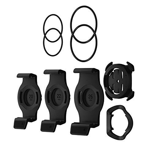 Garmin Quarter Turn Mount für QuickFit-Fahrräder, 3 Einheiten mit 20, 22 und 26 mm Halterung, Unisex-Erwachsene, Schwarz, Einheitsgröße