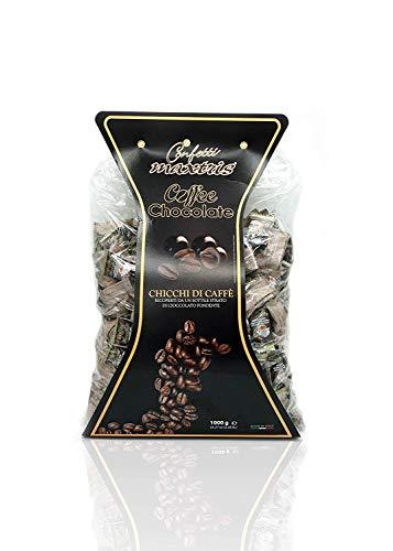 AP16.001.01 Chicchi Di Caffè Ricoperti Di Cioccolato 1 kg Fondente Linea Maxtris. Confezionati singolarmente