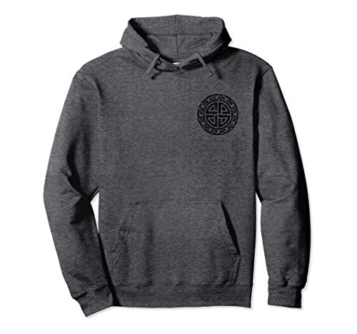 Vintage Protection Shield Knot Celtic Norse Vikings Health Pullover Hoodie