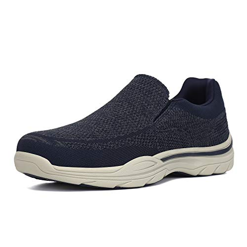 PAMRAY Zapatos de Mocasines Hombre Loafer Slip On Zapatillas Cómodo Calzado de Walking para Hombre Azul 46