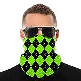 Cuadros de Argyle en Colores Verdes ovni Pasamontañas Deporte Montañismo Esquí al Aire Libre Ciclismo a Prueba de Viento Mascarillas Máscaras y Escudos