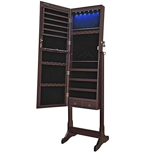 SONGMICS 6 LEDs Jewelry Cabinet ...