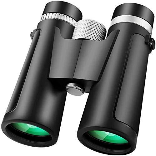 Binoculares for adultos de los niños, compacto binocular con luz de la noche de Baja Visión, 12x42 Large Telescope del ocular for observar la vida silvestre deportes al aire libre Juegos Negro liuchan