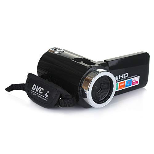 ETbotu - Videocámara profesional 4K HD, visión nocturna, pantalla táctil LCD de...