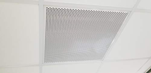 """1800ceiling White Plastic Perforated Tile/Return with 1/2"""" Perforations.100 Thick (#4994W-100-50)"""