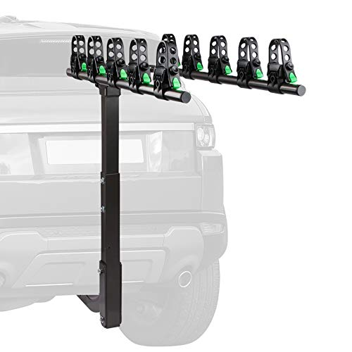 STEGODON 5 Bike Hitch Rack 2#039#039 Hitch Receiver Heavy Duty Bicycle Carrier Racks Hitch Mount Double Foldable Rack for Cars Trucks SUV,Hatchback RV,Tow Hitch and Minivans