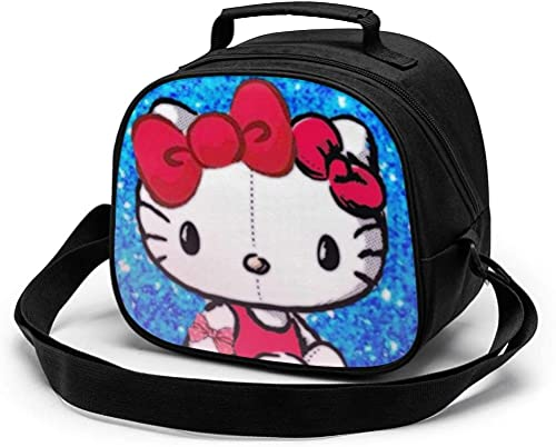 Bolsa de almuerzo para niños, bolsa de almuerzo reutilizable y portátil, bolsa de comida térmica con correa...