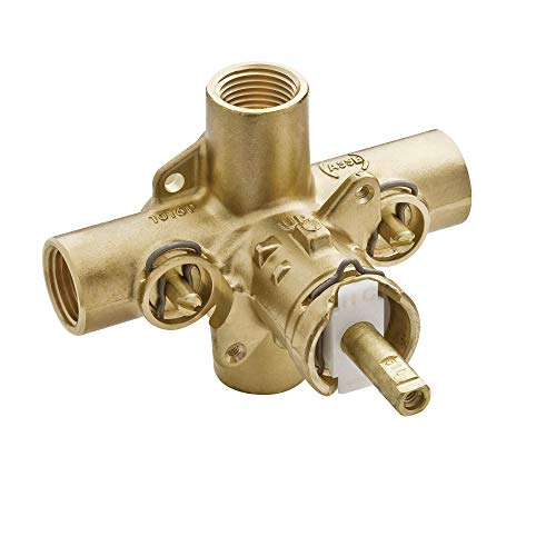 Moen 2590 Rough-In Posi-Temp Pressure Balancing Cycling Shower Valve with Stops, 1/2-Inch IPS
