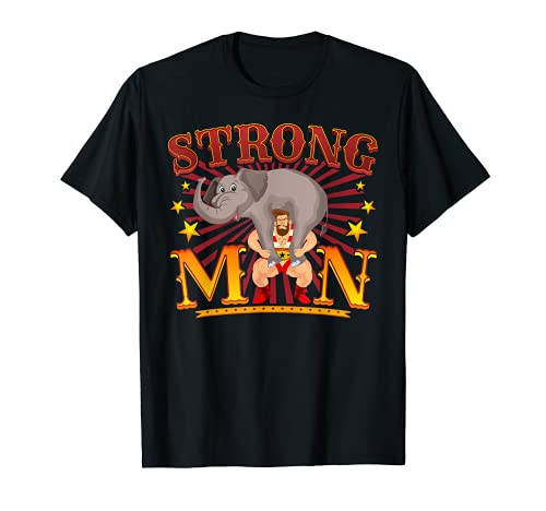 Camisa de sentadillas - Disfraz vintage de circo Strongman C